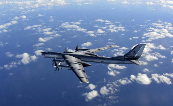 A photo taken in October and provided by Britain's Royal Air Force shows a Russian