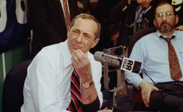 New York Gov. Mario Cuomo, appearing on a live call-in radio show in New York, Nov. 14, 1991, said he wouldn't be able to make a decision on his presidential candidacy until he had solved problems with the state budget. The standoff with the Legislature u