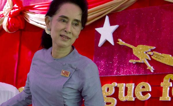 Myanmar's opposition leader Aung San Suu Kyi says she will be