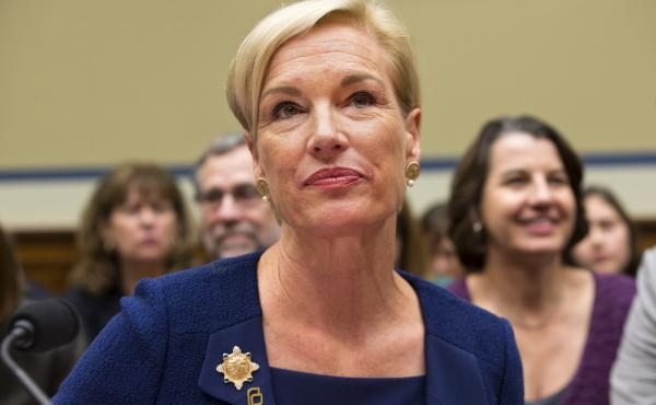 Planned Parenthood Federation of America President Cecile Richards listens while testifying during a Sept. 29 House panel hearing on