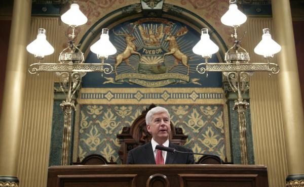 Michigan Gov. Rick Snyder delivers his State of the State address Tuesday, with the water crisis in Flint overshadowing most other issues.