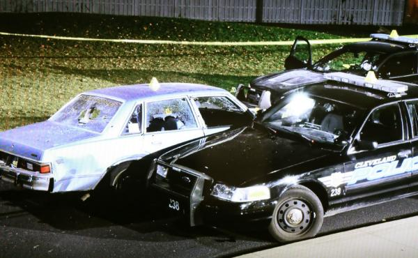 Cleveland police Officer Michael Brilo and other officers have been fired over the fatal shooting of the occupants of a car in 2012, seen here in a photo taken by the Bureau of Criminal Investigation.