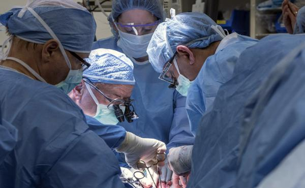 A team of Cleveland Clinic transplant surgeons and gynecological surgeons perform the nation's first uterus transplant during a nine-hour surgery in Cleveland.