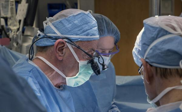 A team of Cleveland Clinic transplant surgeons and gynecological surgeons perform the nation's first uterus transplant during a nine-hour surgery in Cleveland last month.
