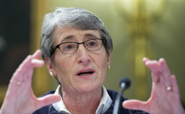 Interior Secretary Sally Jewell testifies on Capitol Hill in Washington in December.