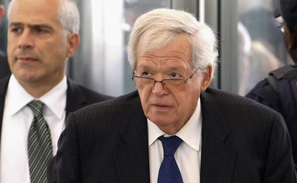 Former House Speaker Dennis Hastert arrives at the federal courthouse in Chicago for his June 9 arraignment for allegedly paying $3.5 million to