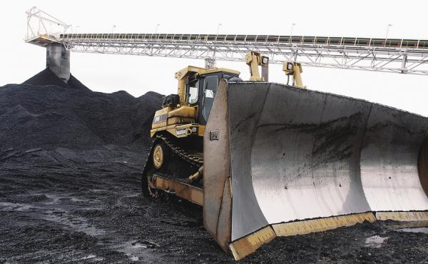 In 2006, a bulldozer sits ready for work at Peabody Energy's Gateway Coal Mine near Coulterville, Ill. Peabody is the latest coal company to declare bankruptcy.