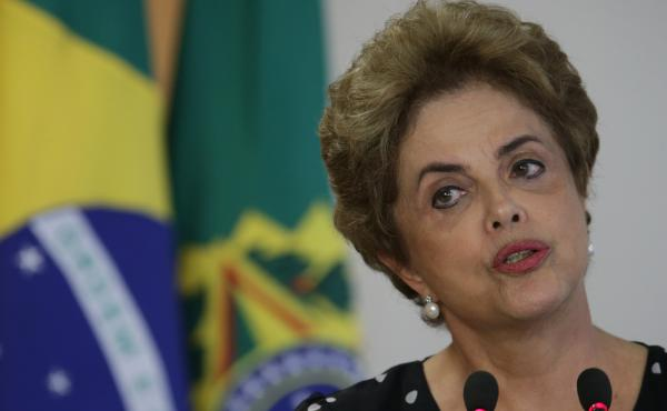 Brazil's President Dilma Rousseff speaks during a meeting Wednesday at the Planalto Presidential Palace, in Brasilia, Brazil.