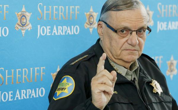 Maricopa County Sheriff Joe Arpaio speaks at a news conference at the Sheriff's headquarters in Phoenix in 2013.