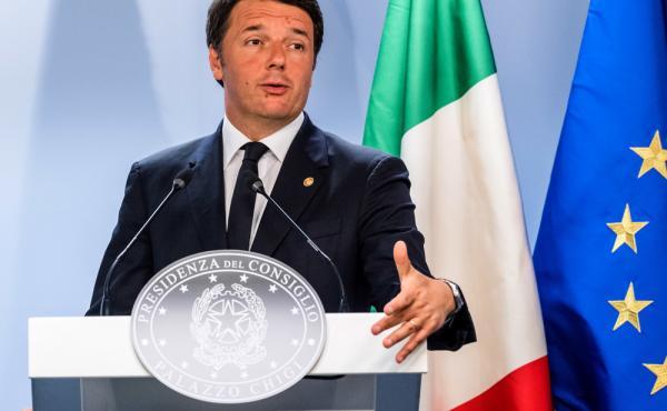 Italian Prime Minister Matteo Renzi speaks during an EU summit in Brussels last  Wednesday.
