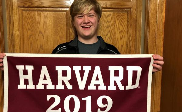 """Braxton Moral is scheduled to receive a high school diploma from Ulysses High School and a bachelor's degree from Harvard. """"It's not as hard as you think; it's just an efficient use of time,"""" he says."""