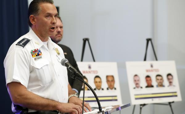 """Metropolitan Police Department Chief Peter Newsham told reporters Thursday in Washington, D.C., that """"it's extremely important"""" to address attacks on peaceful protests."""