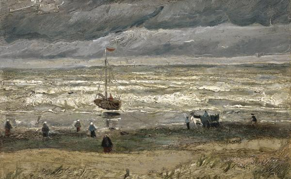 Van Gogh's Seascape at Scheveningen, 1882, was stolen from the Van Gogh Museum in Amsterdam in 2002.