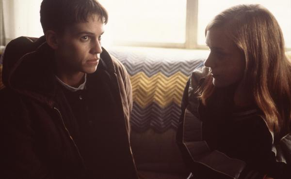 Hilary Swank (left) and Chloe Sevigny starred in Boys Don't Cry, a fictionalized portrayal of the transgender youth Brandon Teena (played by Swank).