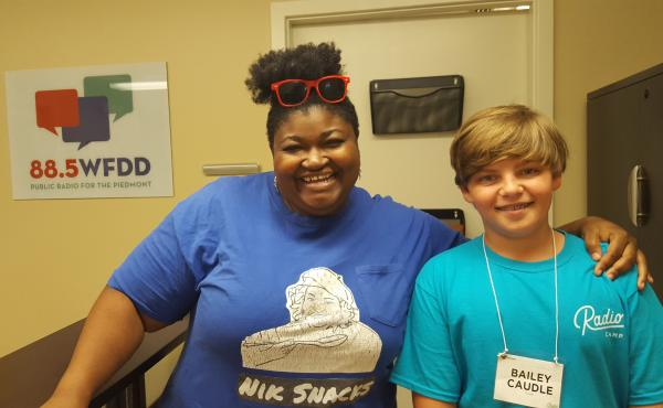 Nikki Miller-Ka and Radio Camper Bailey Caudle