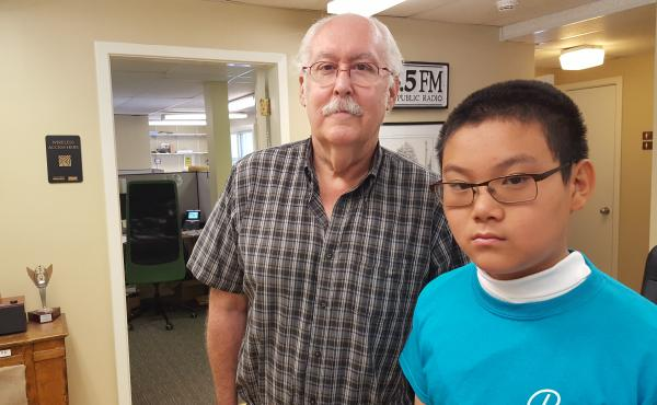 Ken Frazelle and Radio Camper Michael Shen