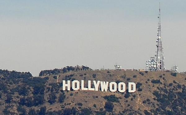 The Hollywood sign in Hollywood, Calif.