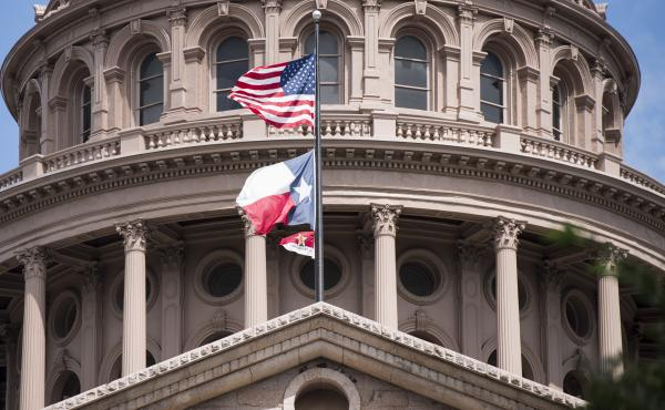 Texas state Capitol building in Austin. This week, state officials confirmed that 22 municipalities have been infiltrated and ransom demanded.
