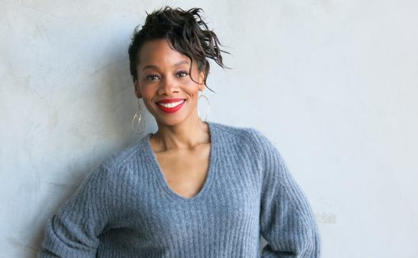 Actress Anika Noni Rose stars in the new BET series, The Quad, as president of a fictional HBCU.