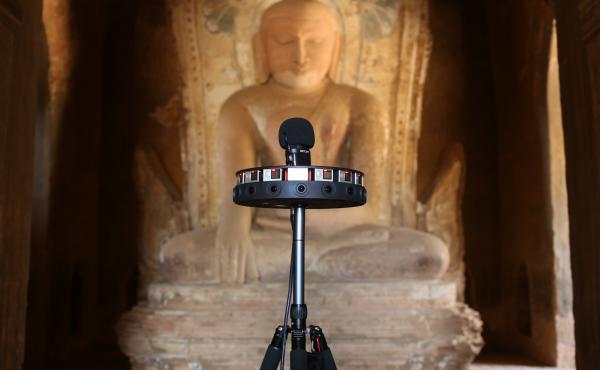A 360-degree camera is used to document the Khe Min Ga Zedi temple in Bagan, Myanmar.
