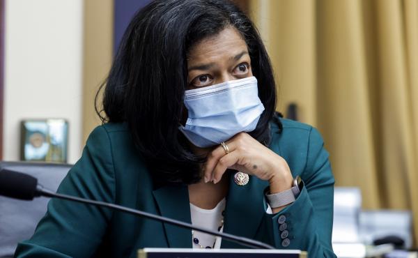 Rep. Pramila Jayapal, D-Wash., is calling for members of Congress who refuse to wear face masks to be fined and removed from the floor of their chamber.