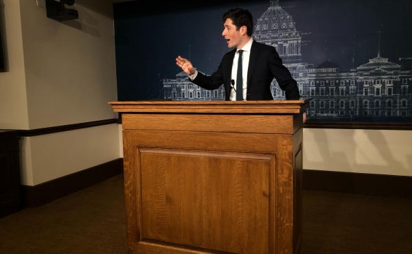 """Minneapolis Mayor Jacob Frey, shown here in February, decried the man's death, saying, """"All I can come back to is that he should not have died. What we saw was horrible and completely and utterly messed up."""""""