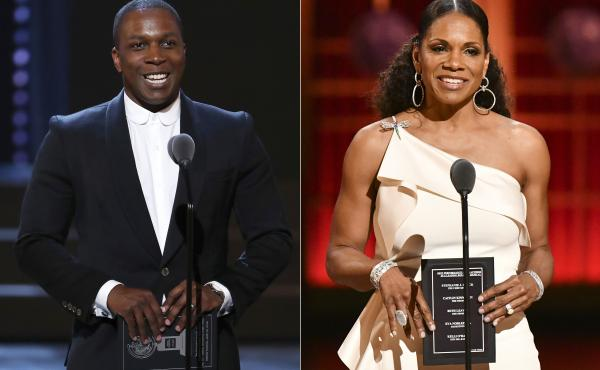 Audra McDonald and Leslie Odom Jr. will host different parts of the Tony Awards broadcast on Sept. 26: the awards ceremony and the following two-hour celebration of Broadway's return, respectively.