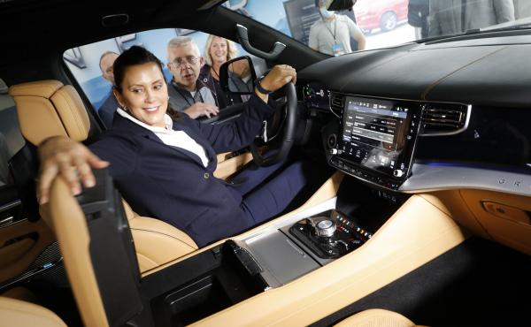 """""""Today's REV Midwest partnership is a bipartisan effort to build the future of mobility and electrification and connect our communities,"""" Michigan Gov. Gretchen Whitmer said."""