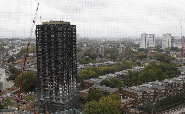 A task force found that hundreds of households are still living in emergency housing five months after the fire at London's Grenfell Tower.