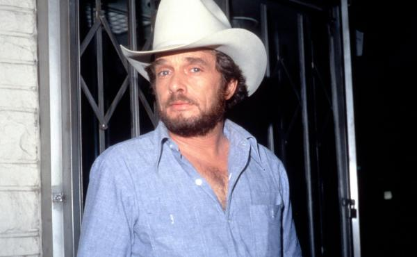 Country musician Merle Haggard, who died Wednesday at age 79, overcame early brushes with the law — and was pardoned by Ronald Reagan. He's seen here backstage in the late 1970's, for a taping of the Merv Griffin Show in Los Angeles.
