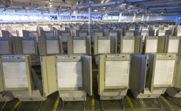 Pennsylvania is one of the states that mostly rely on antiquated voting machines that store votes electronically, without printed ballots or other paper-based backups that could be used to double-check the balloting. There's almost no way to know if they'
