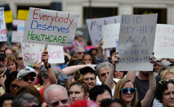 Philadelphia demonstrators protested earlier moves by Republicans to repeal the Affordable Care Act last February. If the ACA is indeed axed as unconstitutional, health policy analysts say, millions of people could lose health coverage, and many aspects o