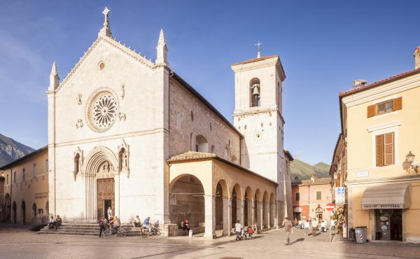 An earthquake has virtually destroyed the basilica of San Benedict in Piaza San Benedetto in Norcia, Italy.