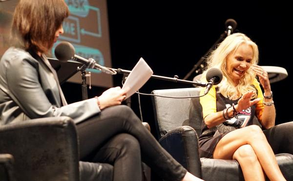 Kristin Chenoweth plays a game on Ask Me Another at Cullen Performance Hall at the University of Houston, in Houston, Texas.