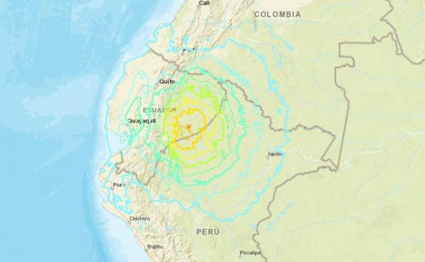 An earthquake struck early Friday morning at an intermediate depth of around 82 miles, the USGS said.