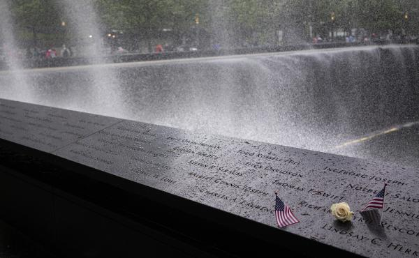 The South Pool of New York's 9/11 Memorial, which honors victims of the attacks. On Wednesday, the Office of the Chief Medical Examiner, announced it identified the remains of Scott Michael Johnson, a 26-year-old securities analyst.