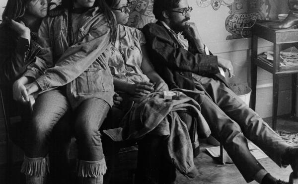 """Inside the Haight Ashbury Free Medical Clinic in its earliest days. The clinic opened on June 7, 1967, and treated 250 patients that day. It's motto, then and now: """"Health care is a right, not a privilege."""""""