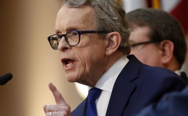 "Ohio Gov. Mike DeWine signed the ""heartbeat bill"" one day after it passed the Republican-led General Assembly."
