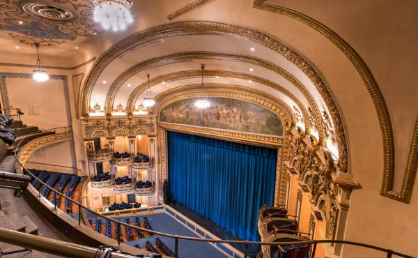 The view from the balcony of the Lyric Theatre in Birmingham, Ala.