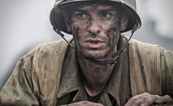 Andrew Garfield is army medic — and conscientious objector — Desmond Doss in director Mel Gibson's Hacksaw Ridge.