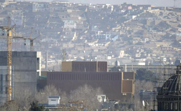 A general view of the U.S. Embassy in Kabul, Afghanistan in 2013. The embassy is facing a coronavirus outbreak, according to the State Department.