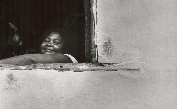 Looking out of an adobe window. Salvador, Brazil, 1963.