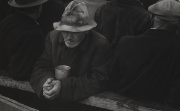 Dorothea Lange, White Angel Bread Line, San Francisco (1933). Sarah Meister, MoMA's photography curator, sees new resonance in Lange's photographs of aid lines like this one, which stood nearby Lange's studio in Northern California.