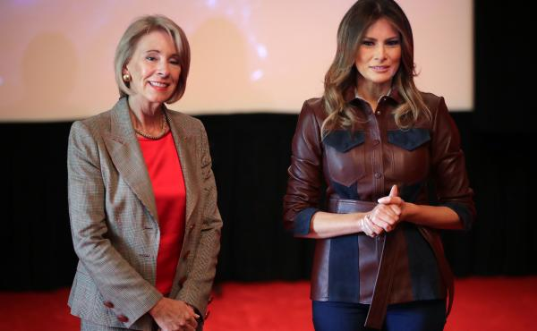 First Lady Melania Trump Welcomes Students To White House For National Bullying Prevention Month