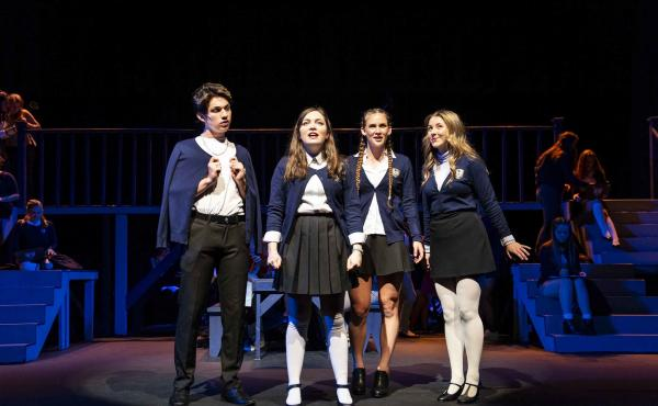 Students perform in Granite Bay High School's original production of Ranked.