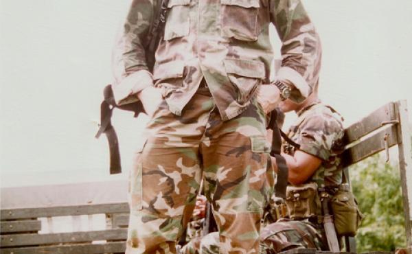 Nathan Chapman in Haiti, 1995.