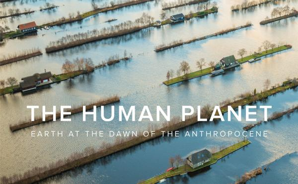 The cover of The Human Planet shows the impact of harvesting thick layers of peat, to burn as fuel, in sparsely forested parts of the Netherlands. Because peat takes thousands of years to form, the harvesting leaves behind sunken, water-filled areas cross