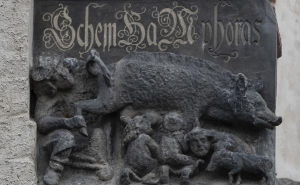 On the facade of the Wittenberg Town Church in Germany, a relief depicting Jews and a large pig is at the heart of controversy and a legal battle.
