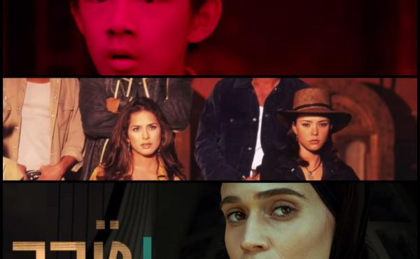Top to bottom: screenshots from trailers for shows being binge-watched around the world: The Bad Kids in China, Pasión de Gavilanes in Colombia, and Tehran in Israel.