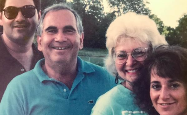 The Feldsteins in 1983 (from left to right): Michael, Bernie, Barbara and Vickie.